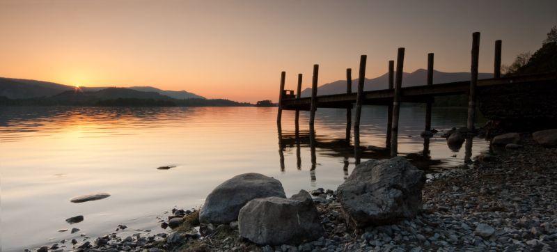 Sunset on Derwent Water, Lake District