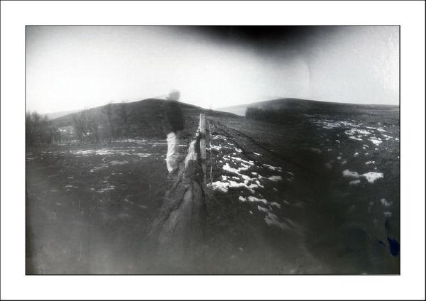 Multi-aperture (3) pinhole camera, foma paper nega