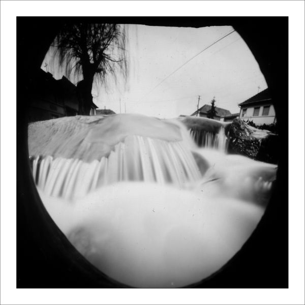 pinhole camera, foma paper negativ