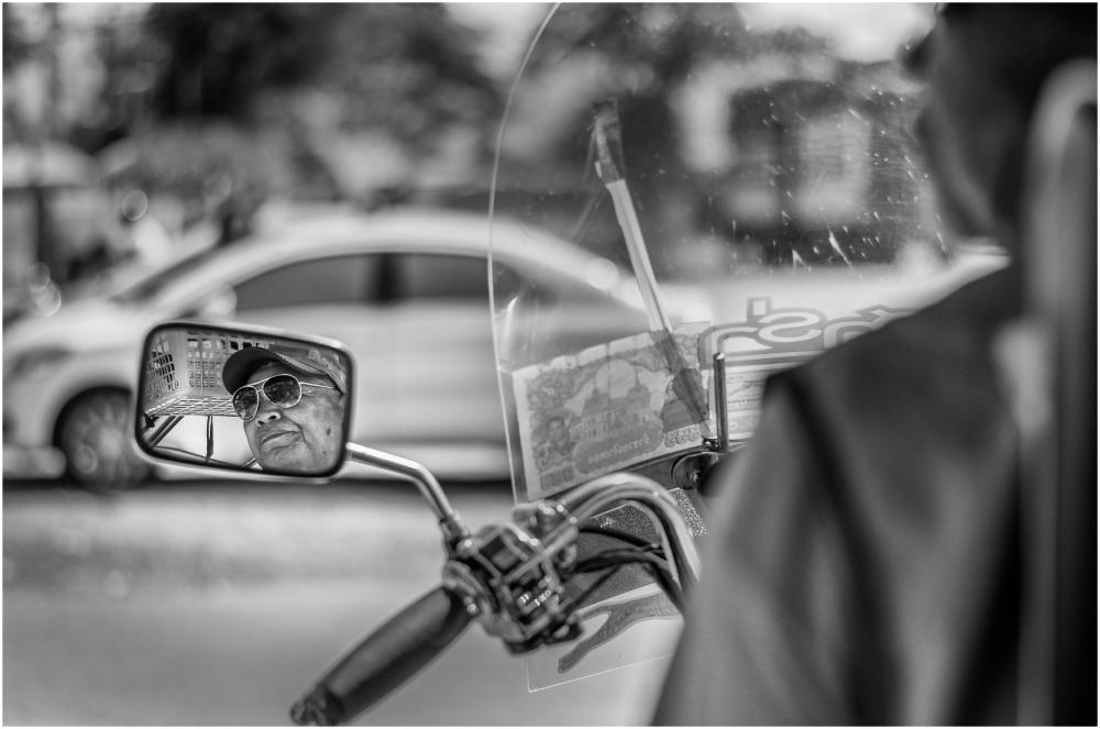 The tuk tuk driver