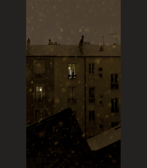 Neige au balcon