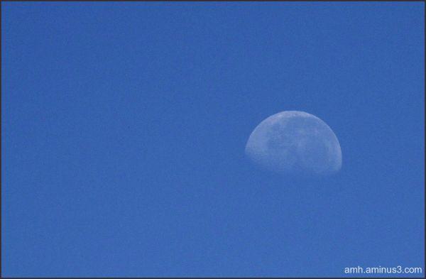 Luna por la mañana