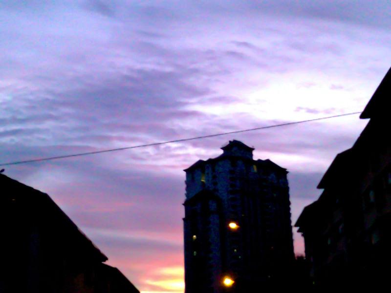 Purplish Pink Sky