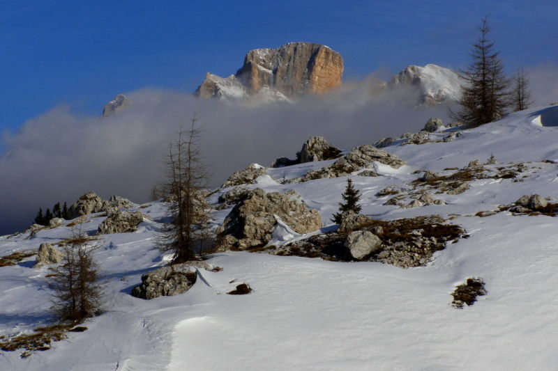dolomites pure in winter