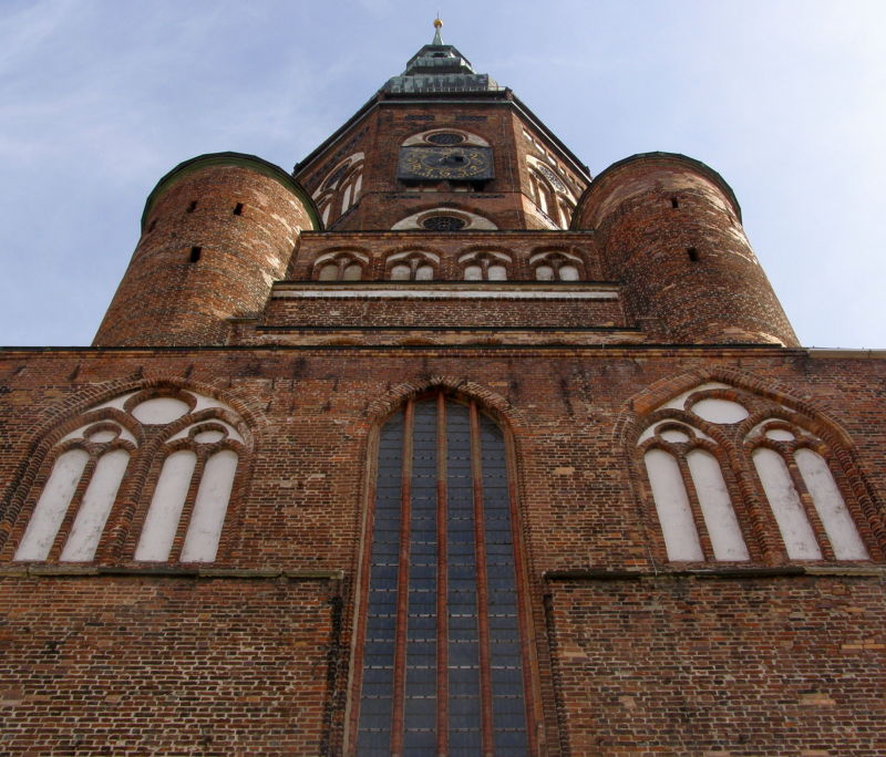 brick gothic st. mary's church, stralsund