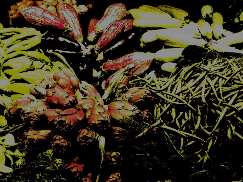 mediterranean veggies, mercado del olivar, palma