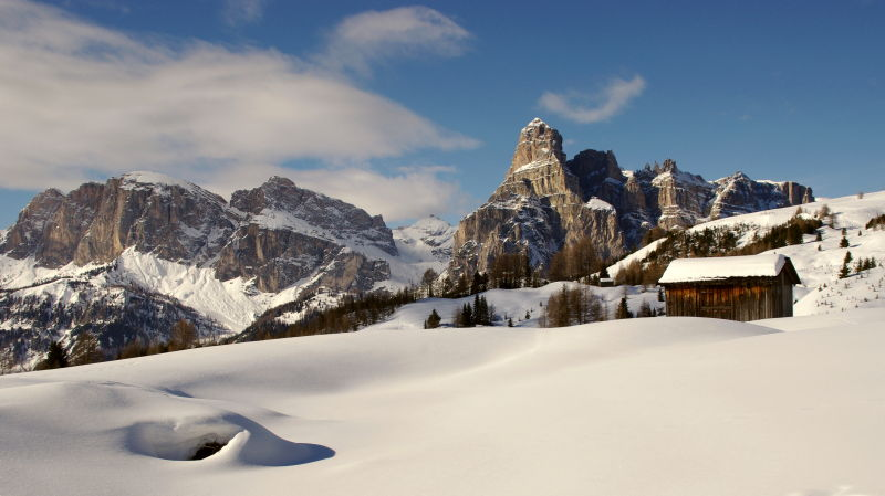 the beauty of a dolomite winter