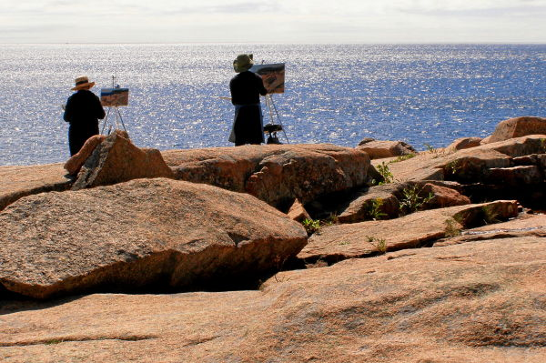 artists at otter cliffs, acadia n.p.