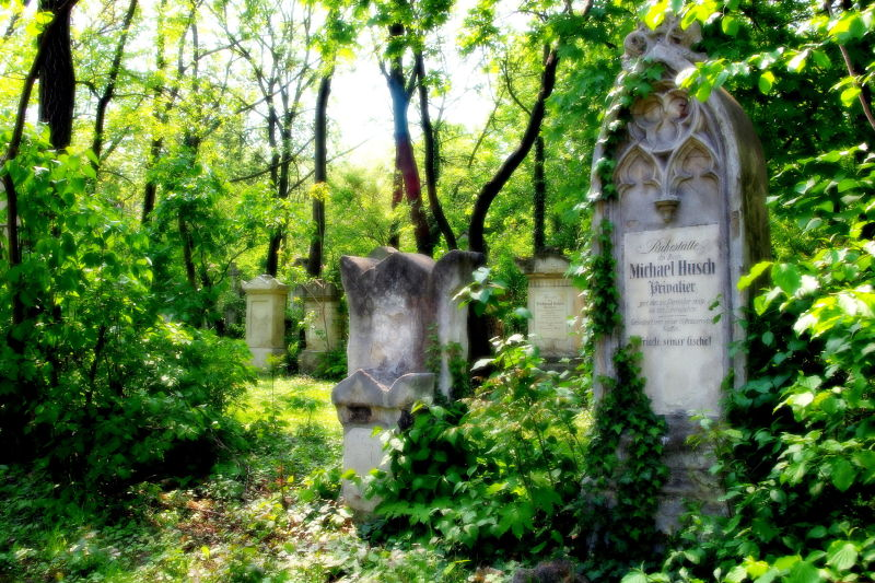 grave of michael hüsch, privatier