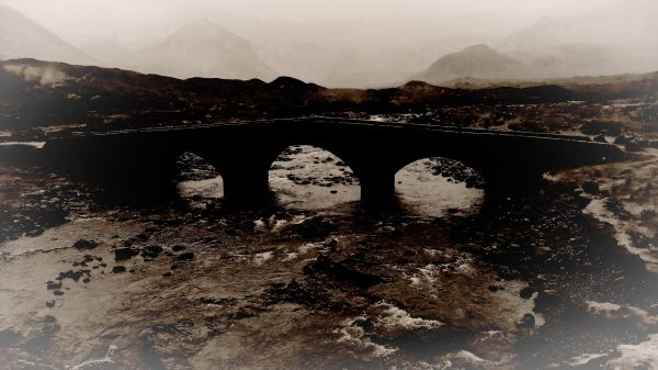 old stone bridge of sligachan, isle of skye
