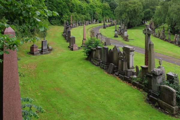 victorian graves, glasgow necropolis