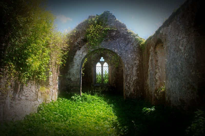 church ruins inchigeelagh county cork ireland