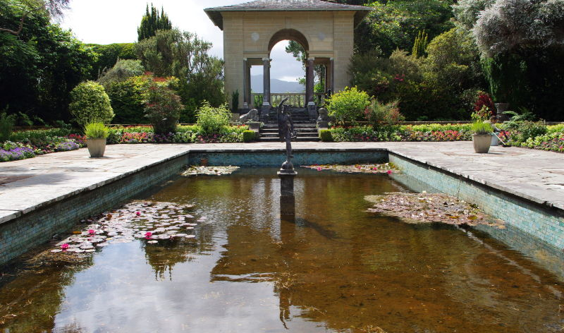 an italian garden in ireland