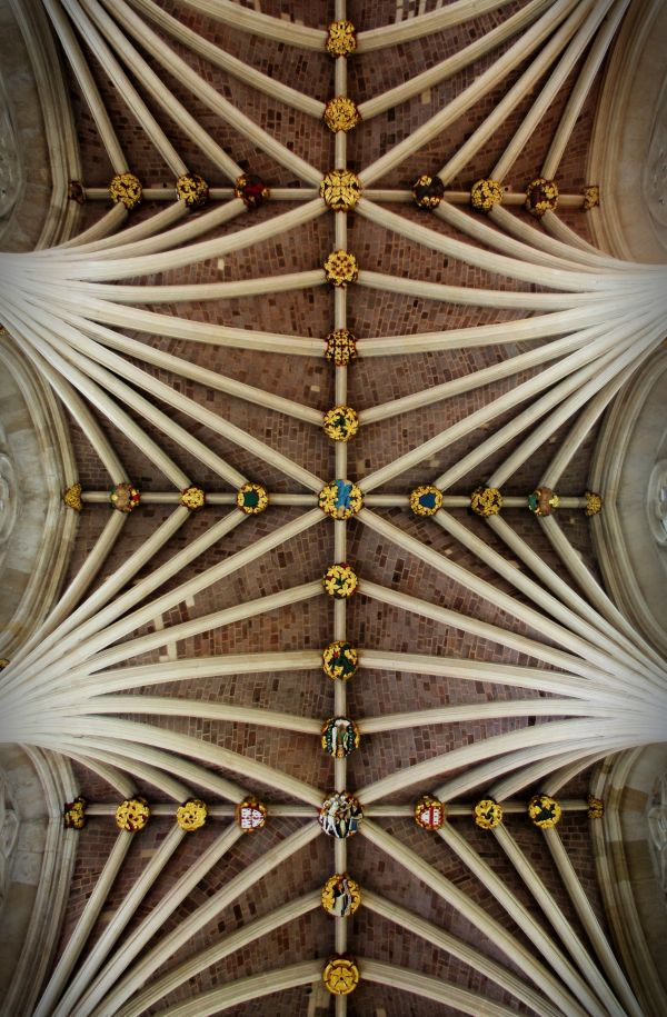 vaulted ceiling and ceiling bosses, exeter cath.