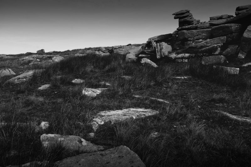 the rocks of littaford tor, dartmoor, devon