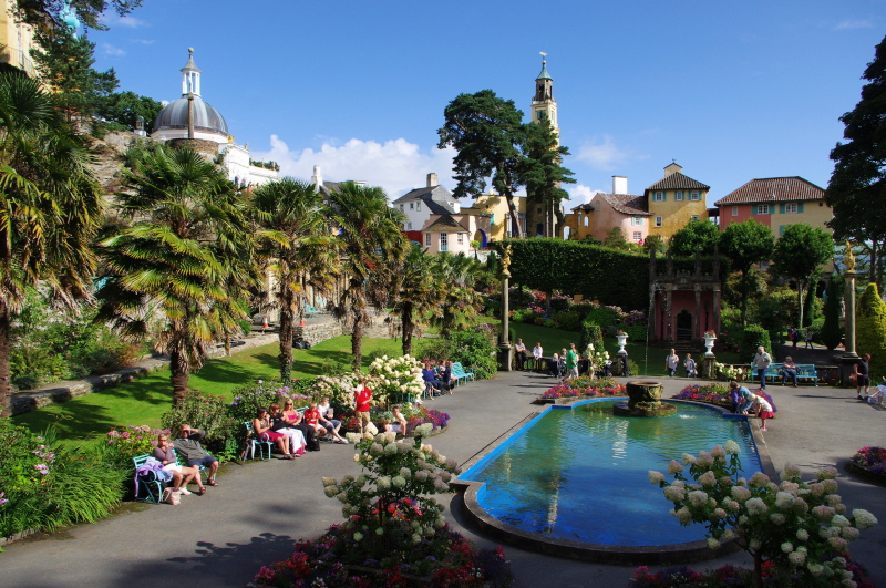 sunday afternoon at portmeirion, wales