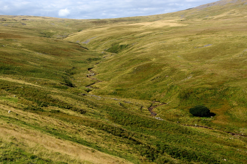 valley in the brecon beacons, wales