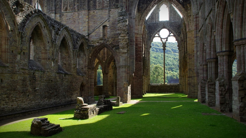 tintern abbey, wye valley, south wales