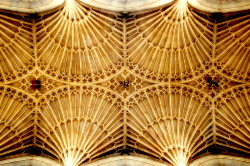 fan vaults, bath cathedral, bath, england