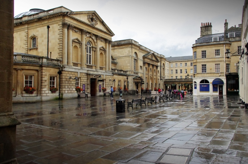 entrance to roman baths and pump room, bath