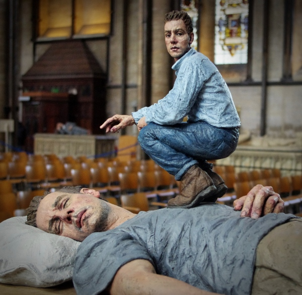 """""""lying man"""", conflux, salisbury cathedral"""