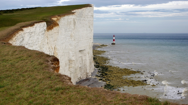 cliffs and lighthouse, beachy head, sussex