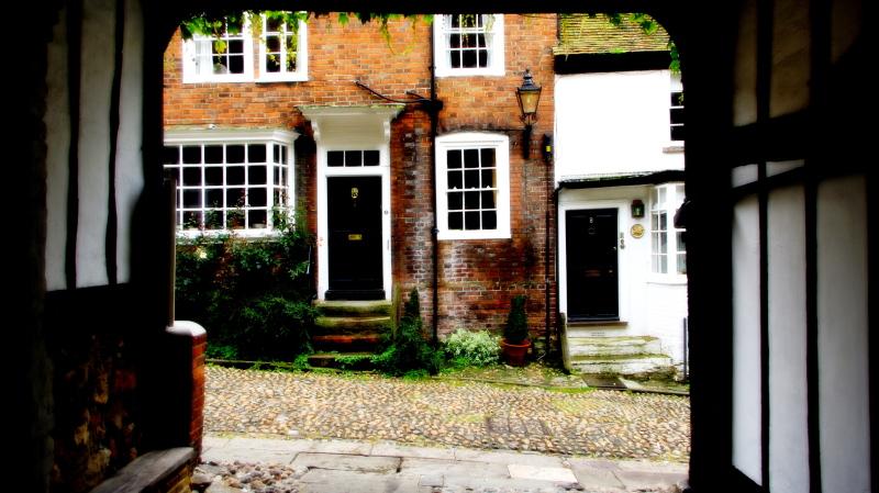 doorway in mermaid street, rye, east sussex