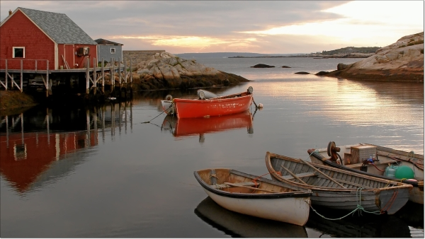 evening in peggys cove