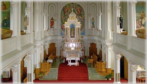 church interior, chéticamp, capt breton island