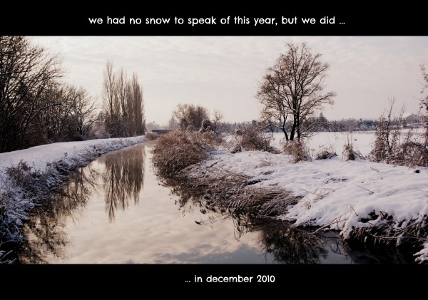 canal project 16a - winter 2010 - snow