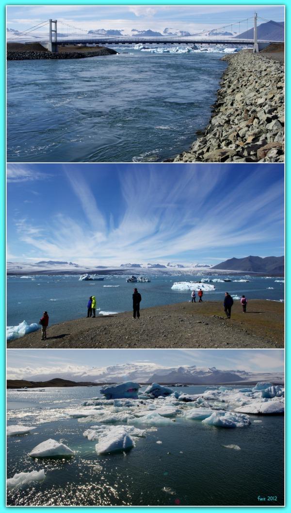 iceland jökulsárlón triptych