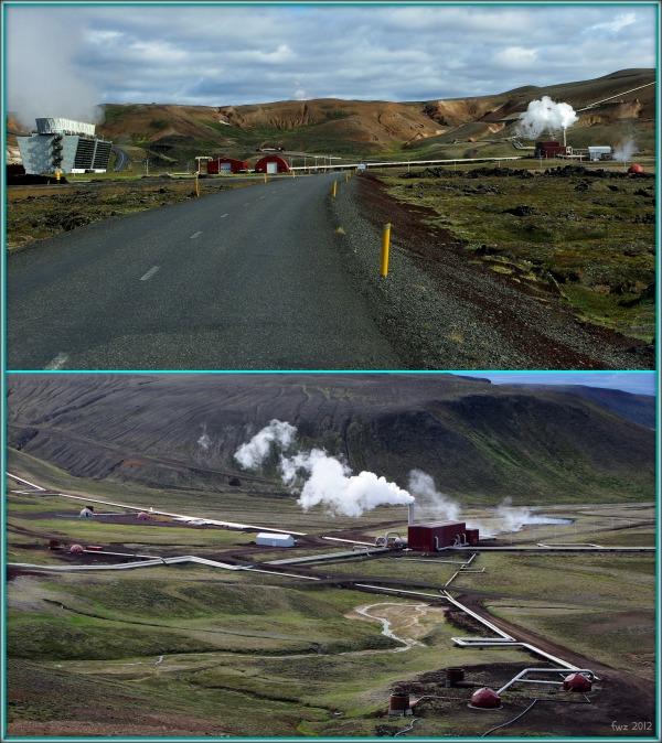iceland, krafla geothermal power station