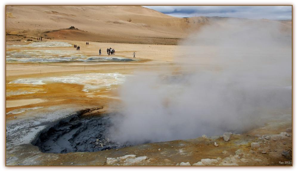 iceland, námaskarð geothermal field