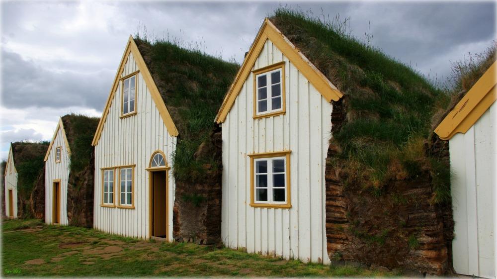 iceland, glaubaer farm, turf houses, museum