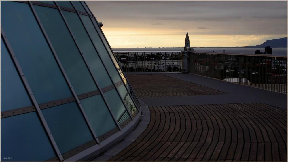 iceland, reykjavik, perlan, evening, view