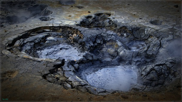 iceland, krýsuvík, geothermal field, mud pots
