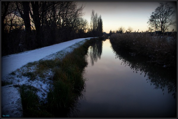 canal project 49b, early winter, snow
