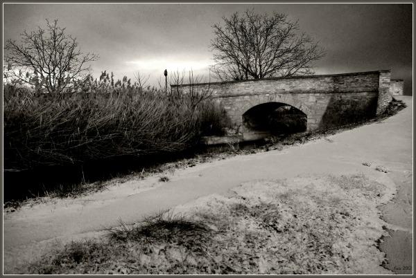 canal project 50a, winter, bridge, snow