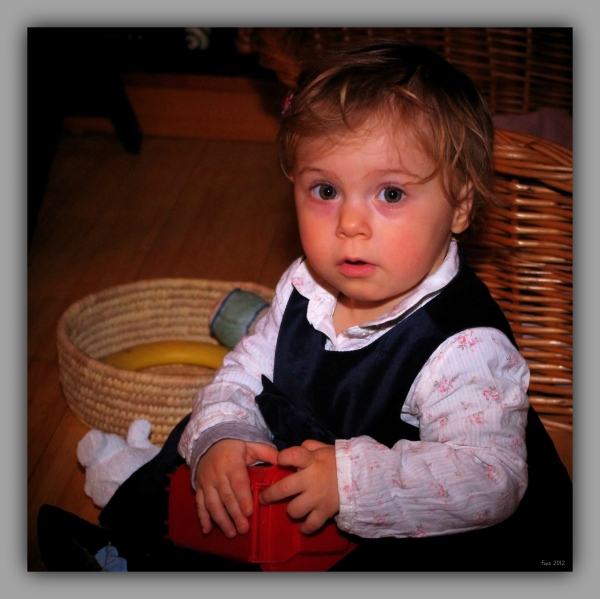 emilia, 15 months, sitting, christmas 2012