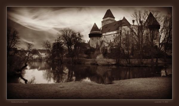 waldviertel, heidenreichstein castle, moat, effect