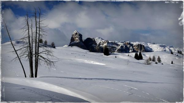 south tyrol, dolomites, corvara, col alt, frame