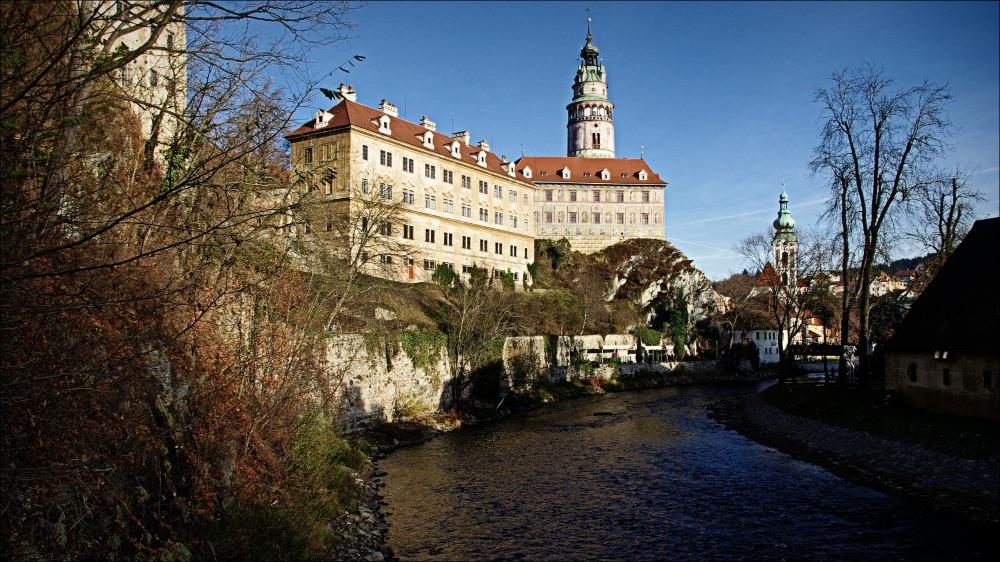 krumau, český krumlov, castle, town, vltava