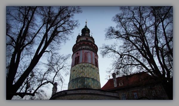 krumau, český krumlov, castle, tower