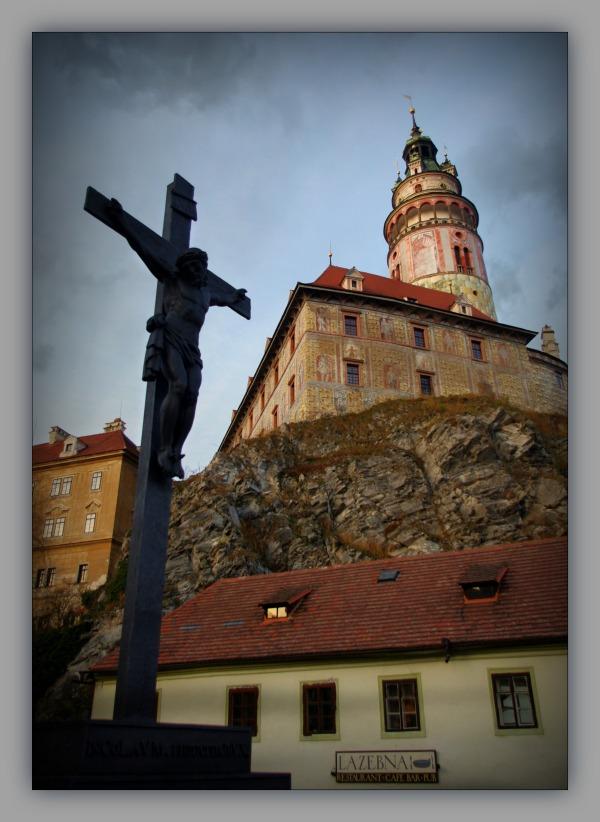 krumau, český krumlov, castle, tower, town