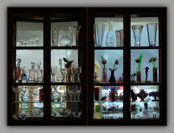 krumau, český krumlov, shop window, crystal