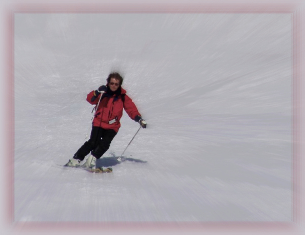 dolomites, passo giau, me, skiing, focal blur
