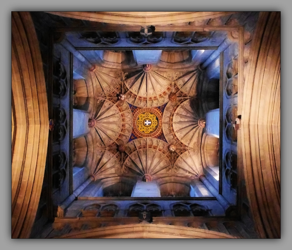 churches, canterbury cathedral, tower ceiling