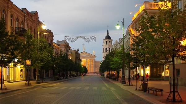 vilnius, gediminas avenue, cathedral