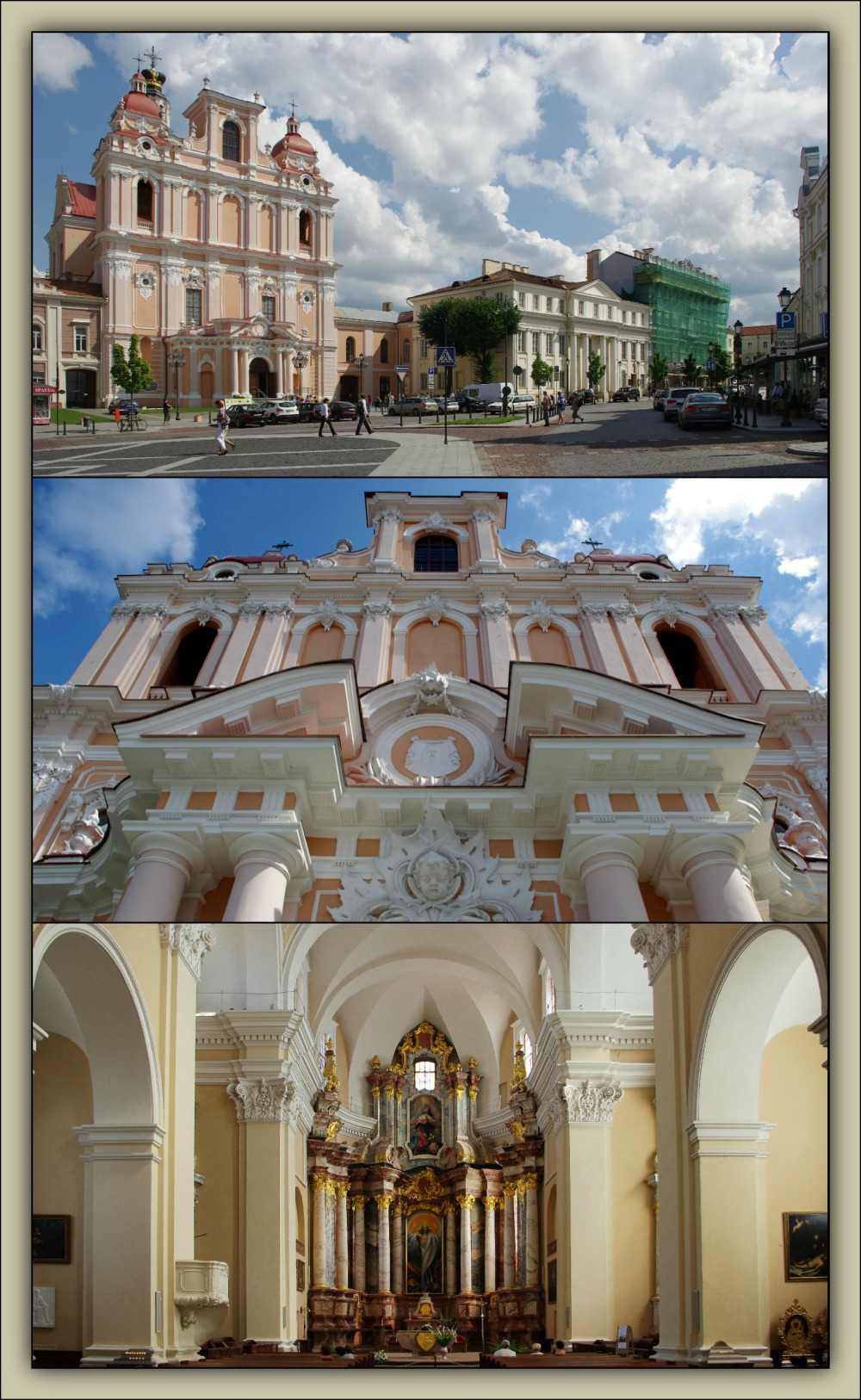 vilnius, old town, st. casimir church, baroque