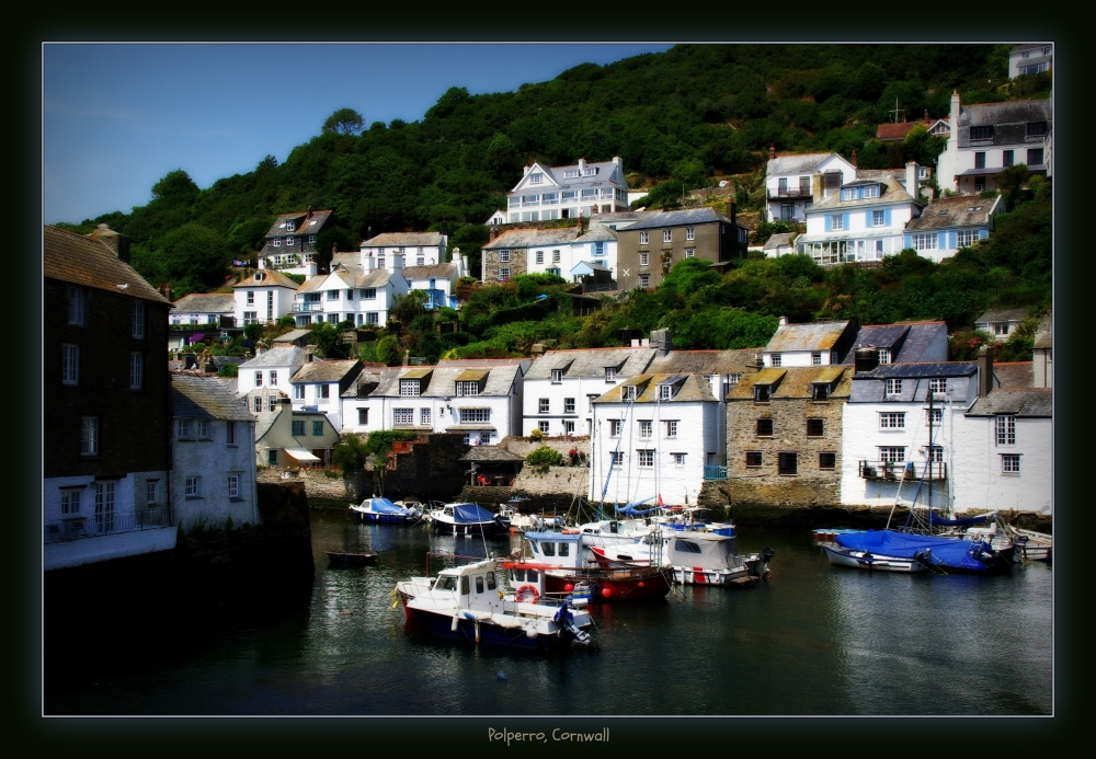 england, cornwall, polperro, houses, harbour